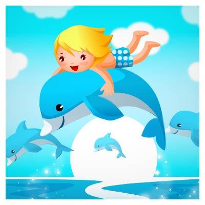 وکتور دلفین سواری