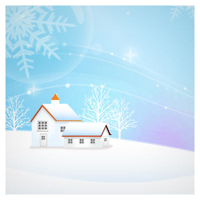 دانلود وکتور منظره برفی (کریسمس و سال نوی مسیحی)