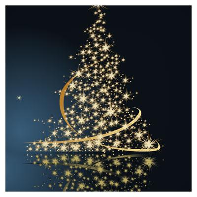 وکتور درخت ستاره ای کریسمس