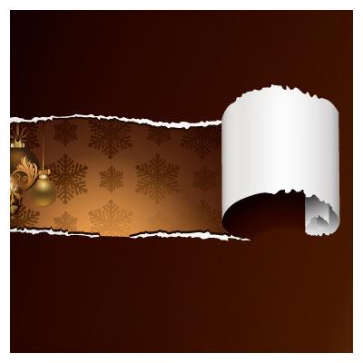 دانلود وکتور کاغذ پاره شده و گوی های طلایی
