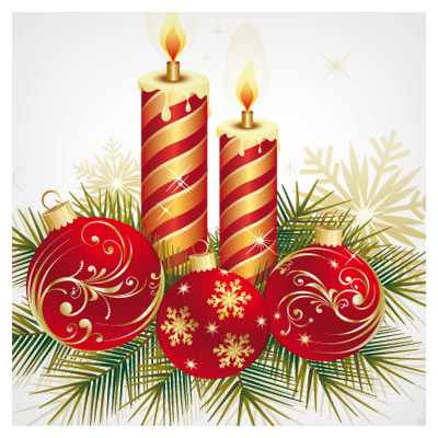 گوی و شمع جشن های سال نو میلادی (کریسمس)
