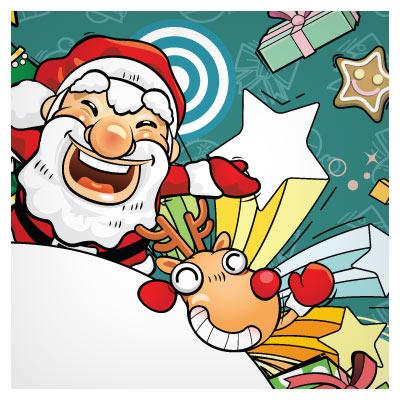 وکتور مجموعه بنرهای کارتونی بابانوئل