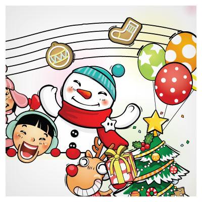 وکتور شادی بابانوئل و بچه ها