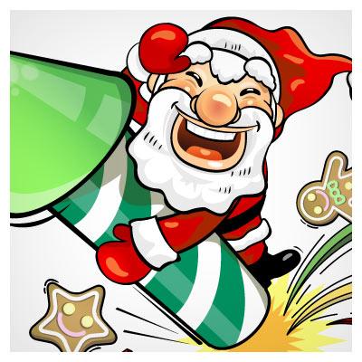 مجموعه بیش از 10 وکتور کاراکتر کارتونی بابانوئل