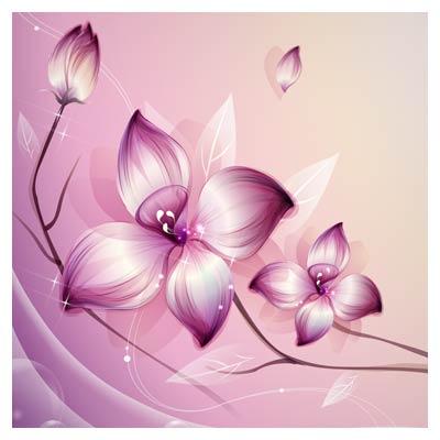 دانلود مجموعه وکتور بنر گل های زیبای بنفش