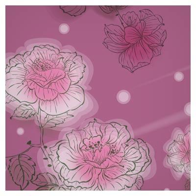 مجموعه 5 بنر گل خطی (گلهای تزئینی لایه باز)