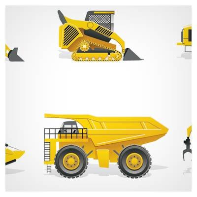 وکتور ماشینهای خاکبرداری