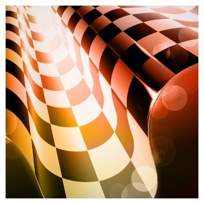 وکتور پرچم مسابقات ماشین سواری