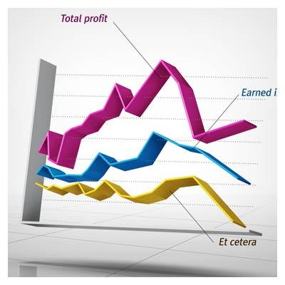 فایل لایه باز نمودارهای آماری