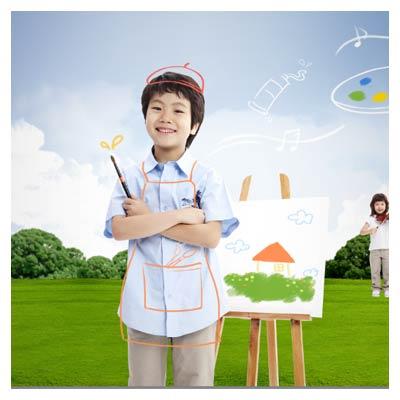 فایل پی اس دی کودکان نقاش