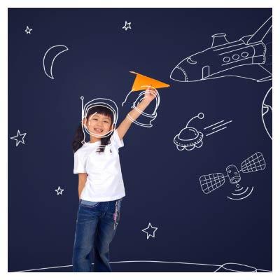 فایل psd کودک فضانورد