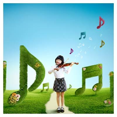 فایل psd موسیقی طبیعت