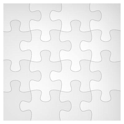 دانلود رایگان وکتور مجموعه متنوع با طرح پازل های سیاه و سفید (جورچین هزار تکه)