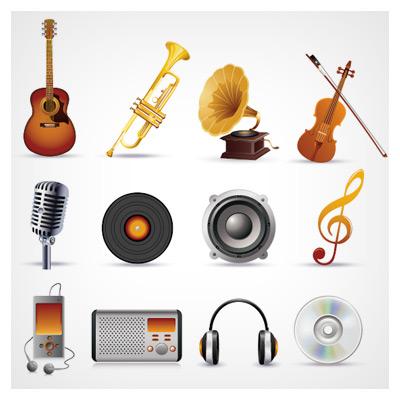 آیکونهای ابزار موسیقی