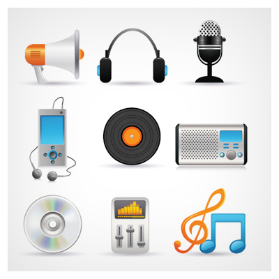 آیکون وسایل موسیقی