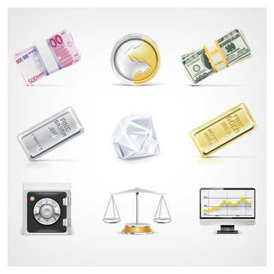 مجموعه آیکونهای پول و ثروت