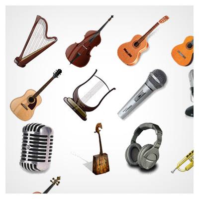 آیکون ابزارهای موسیقی