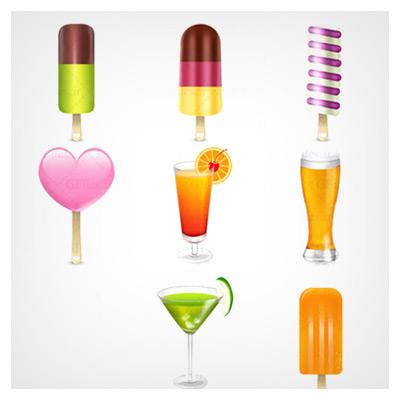 آیکونهای دسر و نوشیدنیها