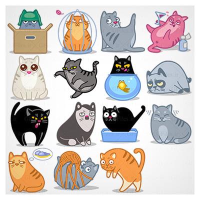مجموعه آیکون گربه ها
