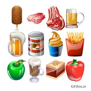 دانلود رایگان مجموعه خوراکی های مختلف با فرمت png