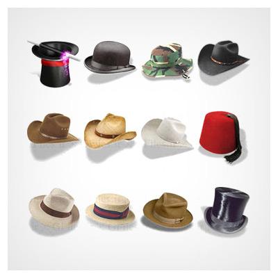 مجموعه آیکون کلاه