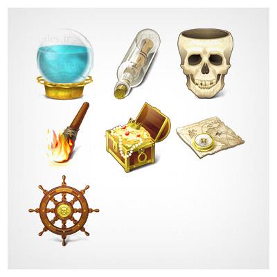 دانلود رایگان مجموعه آیکون دزدان دریایی با فرمت PNG
