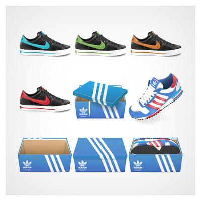 آیکون کفشهای ورزشی