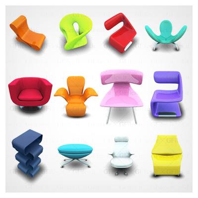 دانلود مجموعه آیکون های png صندلی های مختلف