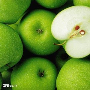 دانلود تصویر با استوک با کیفیت با موضوع میوه، سیب سبز