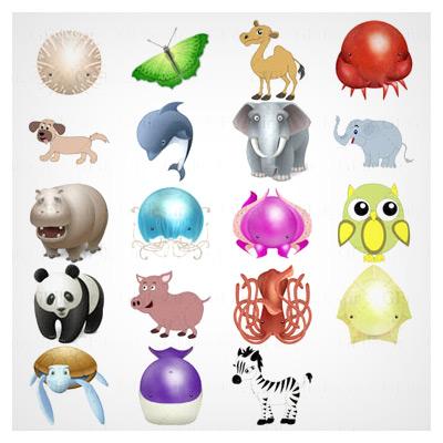مجموعه آیکون حیوانات