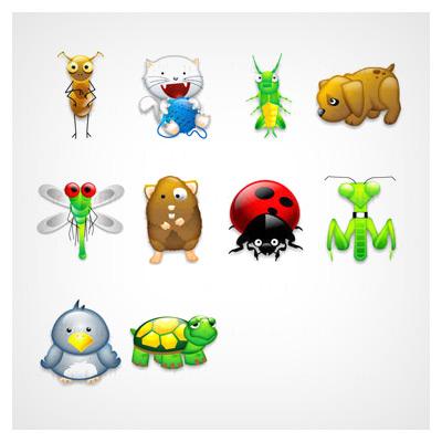 آیکون حشرات و حیوانات