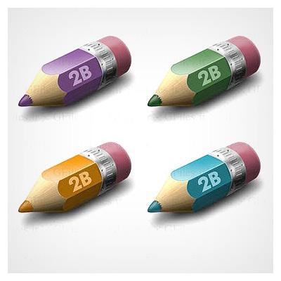 دانلود فایل مجموعه عناصر کاربردی مداد رنگی های کوچک