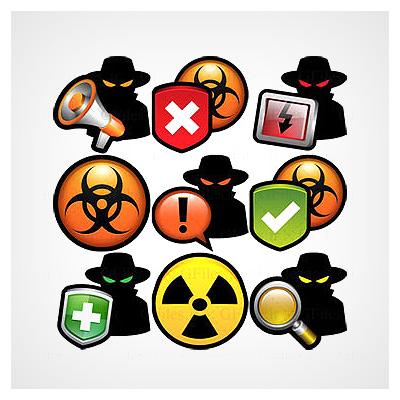 دانلود مجموعه آیکون های png (ترانسپرنت) با موضوع هک ، امنیت و آنتی ویروس