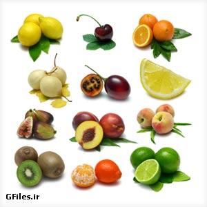 عکس با کیفیت مجموعه میوه های خوشمزه