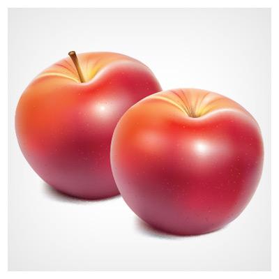 وکتور سیب قرمز