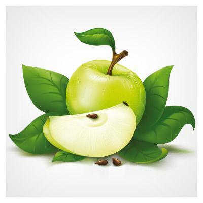 وکتور سیب سبز