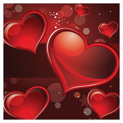 طرح پس زمینه وکتور قرمز و سیاه با موضوع عاشقانه و ولنتاین