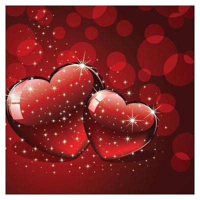 وکتور قلب (عاشقانه) با تم رنگی قرمز سیاه