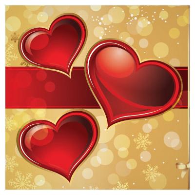 وکتور پس زمینه کارت پستالی عاشقانه با طرح قلب (لایه باز ai)