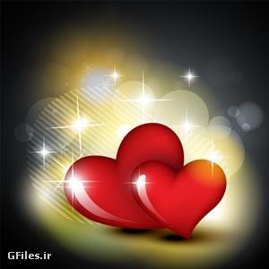 وکتور لایه باز پس زمینه با طرح قلب قرمز