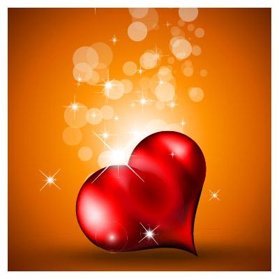 وکتور پس زمینه رنگی با طرح قلب عاشقانه با فرمت ai لایه باز