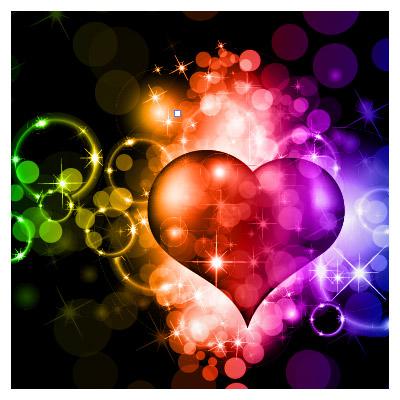 طرح پس زمینه سیاه با المان های قلبی شکل عاشقانه