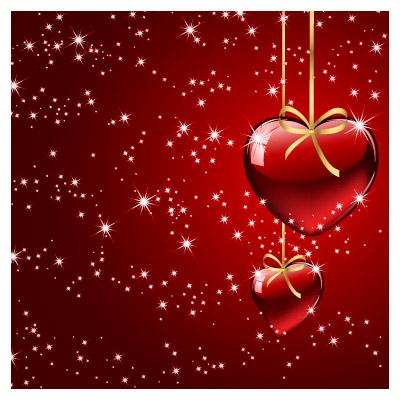 پس زمینه لایه باز وکتوری با طرح عاشقانه و تم رنگی قرمز