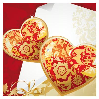 وکتور کارت پستال قلب