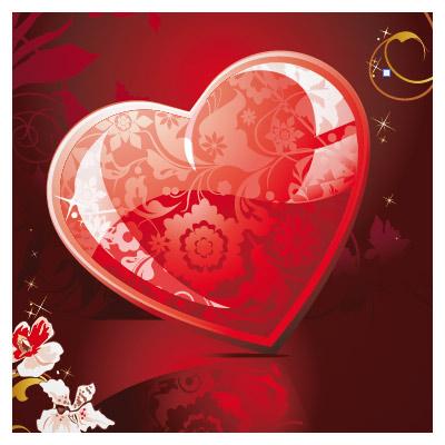 دانلود پس زمینه با طرح قلب (عاشقانه) با پسوند ai
