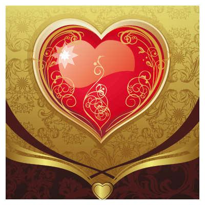 وکتور کارت پستالی عاشقانه