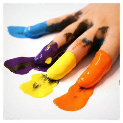 انگشتهای رنگی