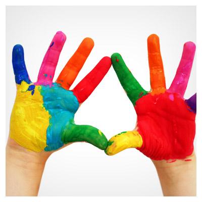 دست های رنگی