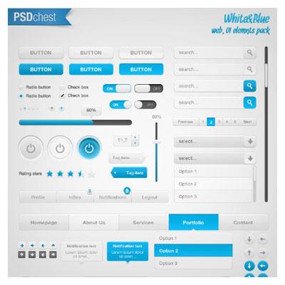 مجموعه عناصر کاربردی المان های طراحی و موبایل با فرمت psd (لایه باز)