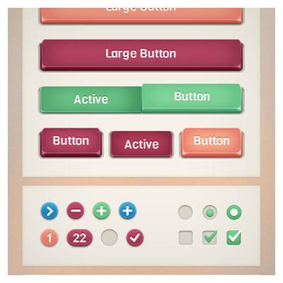 فایل psd لایه باز مجموعه کلید ، آیکون و عناصر طراحی وبسایت و تلفن همراه